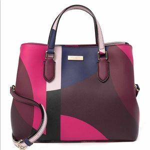 Kate spade pink multi color laurel way bag